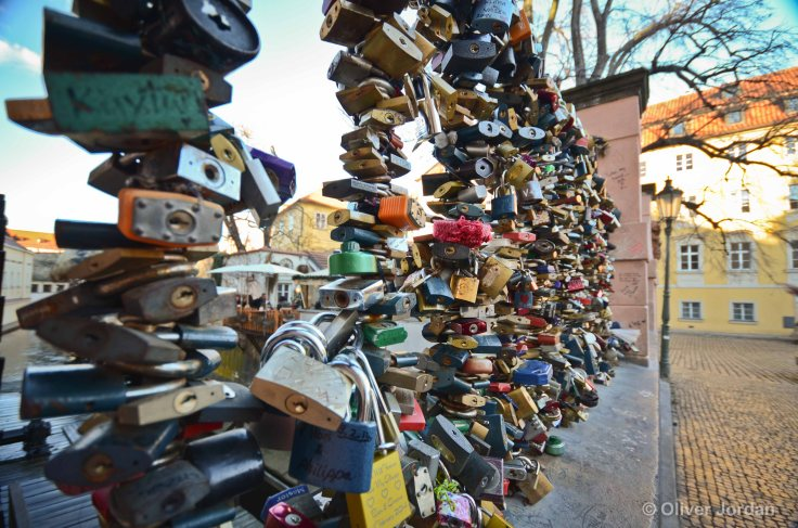 Prague 'Love Lock' Bridge.