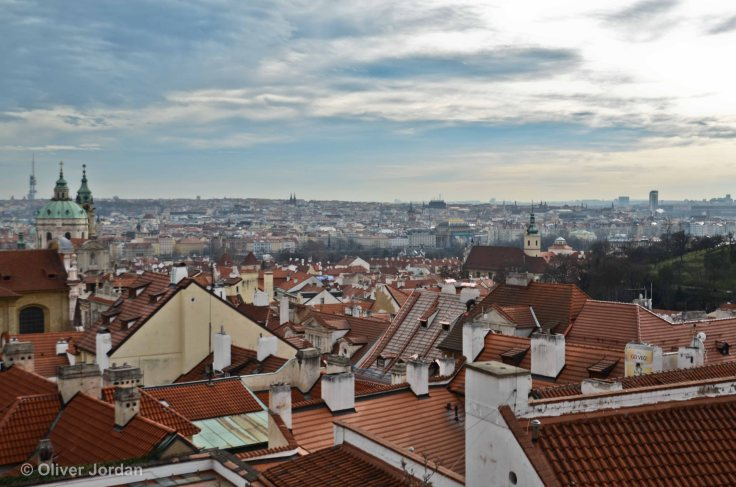 View over Prague, from the castle.
